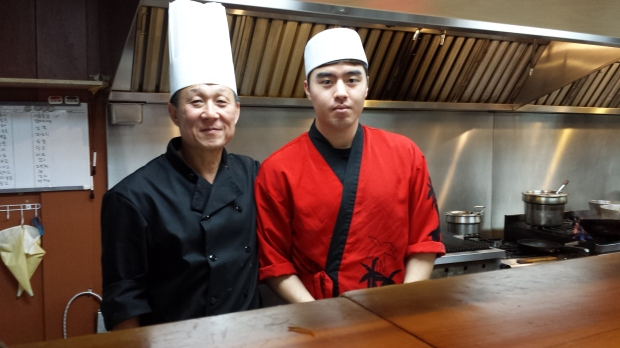 Chef and co-owner Mr. Lee and his apprentice chef